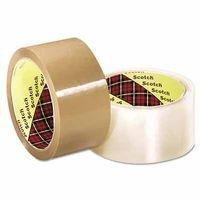 3M 021200-13679 SCOTCH BOX SEALING TAPE371 CLEAR 48MMX50M (1 Roll)