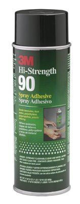 3M 021200-30023 Hi-Strength 90 Spray Adhesive, 24 oz, Aerosol Can, Clear (12 Cans)