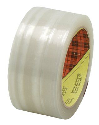 3M 021200-69605 SCOTCH BOX SEALING TAPE373 CLEAR 72MMX50M, (1 Roll)