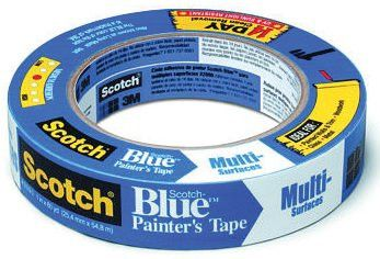 3M 051115-03681 Scotch-Blue Multi-Surface Painter's Tape, 1 in X 60 yd (1 Roll)