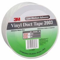 3M 70006284452 Vinyl Duct Tape 3903, White, 3 in x 50 yd x 6.5 mil