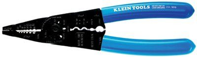 "Klein Tools 1010 Long-Nose All-Purpose Tools, 8 1/4"", 10-22 AWG, Blue (1 EA)"