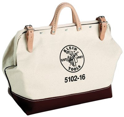 Klein Tools 5102-16 No. 8 Canvas Tool Bags, 1 Compartment, 16 X 6 in (1 EA)