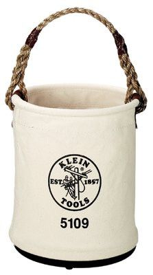 Klein Tools 5109 Wide-Opening Straight Wall Buckets, 1 Compartment, 15 in (1 EA)