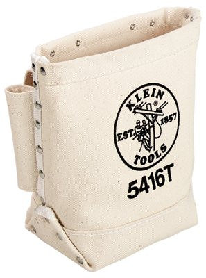 Klein Tools 5416T Bull-Pin and Bolt Bags, 3 Compartments, 10 in X 5 in, Canvas (1 EA)