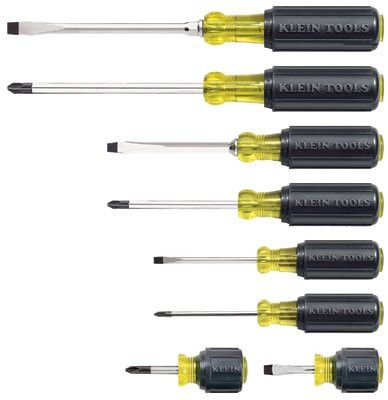 Klein Tools 85078 8 Pc. Cushion-Grip Screwdriver Set (1 Set)