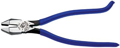 klein-tools-d201-7cst-ironworkers-pliers,-9-1/4-in-length,-5/8-in-cut,-plastic-dipped-hook-bend-handle