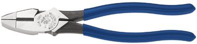 klein-tools-d213-9ne-ne-type-side-cutter-pliers,-9-1/4-in-length,-23/32-in-cut,-plastic-dipped-handle