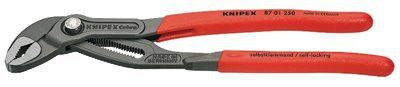 Knipex 8701250 Cobra Water Pump Pliers, 250 mm, Box Joint, 11 Adj. (1 EA)