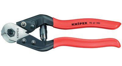 "Knipex 9561190 Knipex Wire Rope Cutters, 7 1/2"", Shear Cut; Precise Crimping (1 EA)"