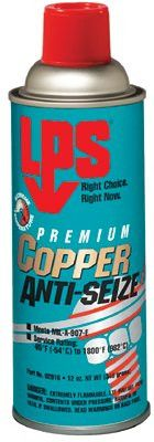 LPS 02916 Copper Anti-Seize Lubricants, 12 oz Aerosol Can (12 Bottles)