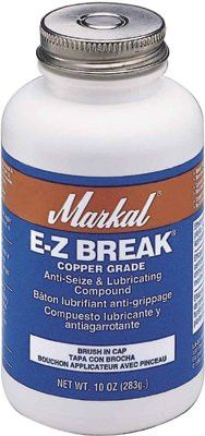 Markal 08910 E-Z Break Anti-Seize Compound, 10 oz Brush-In-Cap (1 Can)