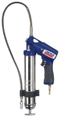 Lincoln Industrial 1162 Air Powered Grease Guns, 14 1/2 oz, 150 psi, 7/16 in(UNEF), Hose, Pneumatic Pump