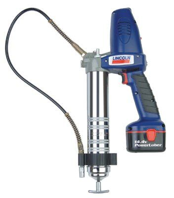 "Lincoln Industrial 1442 PowerLuber Heavy-Duty Battery Grease Guns, 14.5 oz, 7,500 psi, 1/8"" NPT(F)"