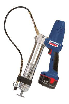"Lincoln Industrial 1444 PowerLuber Heavy-Duty Battery Grease Guns, 7,500 psi, 1/8"" NPT(F), 2 batteries"