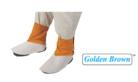 "Weldas 44-2106 6"" Golden Brown Leather Spats (1 Pair)"