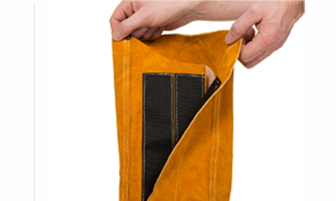 "Weldas 44-2114 14"" Golden Brown Leather Spats (1 Pair)"
