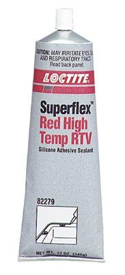 Loctite 82279 Superflex Red High Temp RTV, Silicone Adhesive Sealants, 12 oz Tube, Red
