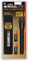 MAG-Lite SP2201H Mini Maglite LED Flashlights, 2 AA, Black (1 EA)
