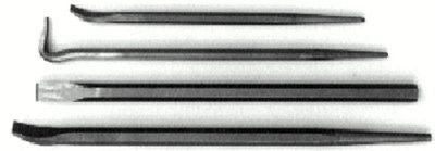 "Mayhew Tools 76284 4 Piece EC Pry Bar Set, 14"" and 20"" Line-Up; 16"" Rolling Head; 18"" Chisel (1 Set)"