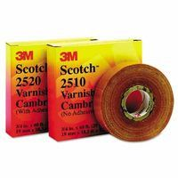 3M 04836 Scotch Varnished Cambric Tapes 2520, 60 ft x 3/4 in, Yellow (1 Roll)