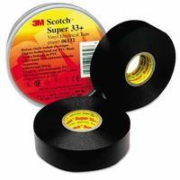 3M 06133 Scotch Super Vinyl Electrical Tapes 33+, 52 ft x 3/4 in, Black (1 Roll)