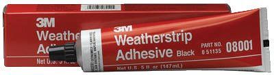 3M 051135-08001 Super Weatherstrip Adhesives, 5 oz, Tube, Yellow (1 EA)