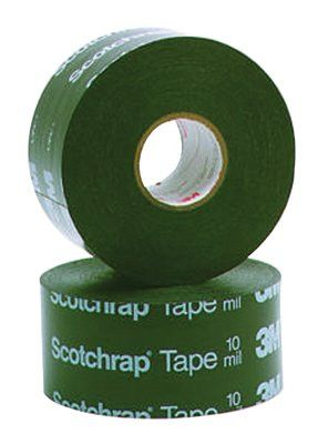 3M 10646 Scotchrap All-Weather Corrosion Protection Tapes 50, 100 ft X 4in, 10 mil, Black (12 Rolls)