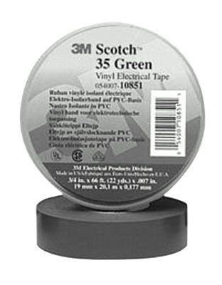 3M 10885 Scotch Vinyl Electrical Color Coding Tapes 35, 66 ft x 3/4 in, Brown
