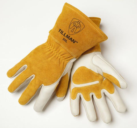 Tillman 50 Top Grain Cowhide Lined/Split Back MIG Welding Gloves (1 Pair)