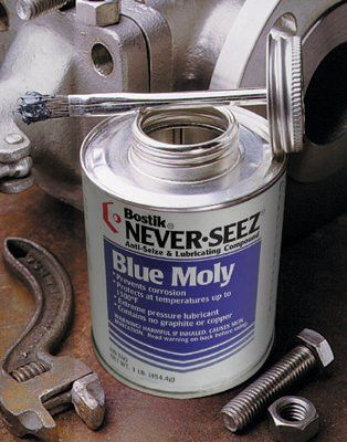 Never-Seez NBBT-16 Blue Moly Compounds, 16 oz Brush Top Can (1 Can)