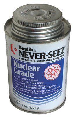 Never-Seez NGBT-8 Nickel Nuclear Grade Compounds, 8 oz Brush Top Can (1 Can)