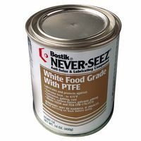 Never-Seez NSWT-14 White Food Grade Compound w/PTFE, 14 oz Flat Top Can (1 Can)