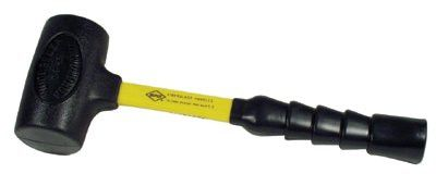 Nupla 10-035 Power Drive Dead Blow Hammers, 3 lb Head, 14 1/2 in Handle, Yellow 1 EA