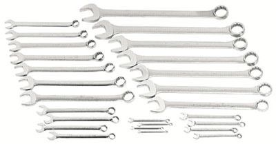 Proto 1200-80ASD Torqueplus 12-Point Combination Wrench Sets, 26 Piece, Inch, Oval Handle, satin (1 Set)