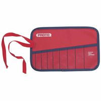 Proto 25TR05C 10-Pocket Tool Roll, Canvas, Red (1 EA)