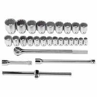 Blackhawk BW-1401 7 Piece Jumbo Reversible Gear Ratcheting Wrench Set, 12 Point, SAE, Full Polish (1 Set)