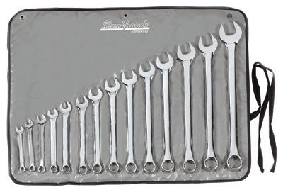 Blackhawk BW-14PT Blackhawk 14 Piece Combination Wrench Sets, 12 Points, Inch, Full Polish (1 Set)