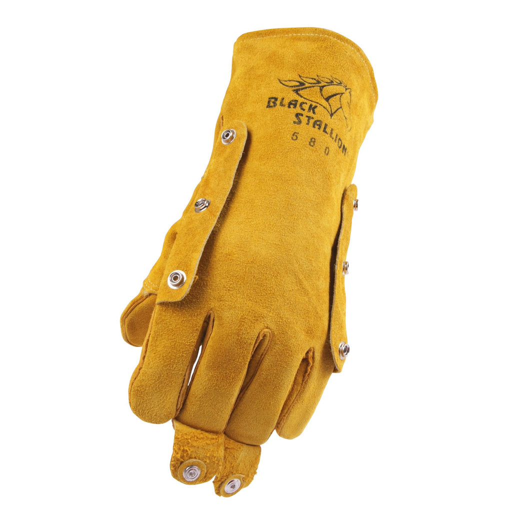 Revco 580LH Split Cowhide Stick Glove with FluxGuard™ Snaps - Left Hand ONLY (1 Glove)
