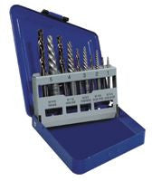 Irwin Hanson 11119 10-pc Spiral Extractor & Drill Bit Set in Metal Index 1 EA