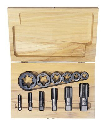 Irwin Hanson 1920 12-pc Hexagon Re-threading Die Sets (HCS) & (HSS) (1 Set)