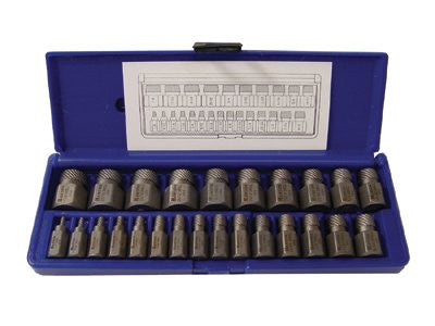 Irwin Hanson 53227 Hex Head Multi-Spline Screw Extractors - 532 Series - Plastic Case Sets 1 SET