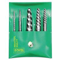 Irwin Hanson 53545 Spiral Flute Screw Extractors - 535/524 Series Set 1 SET
