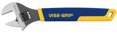 Irwin Vise-Grip 2078612 Vise-Grip Adjustable Wrenches, 12 in Long, 1 1/2 in Opening, Chrome (1 EA)