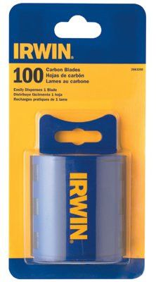 Irwin 2083200 Traditional Carbon Utility Blades, Carbon Construction, 100 per pack (1 Package)