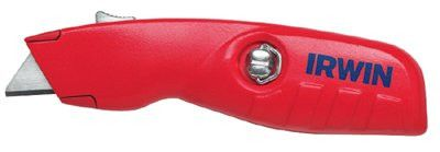 Irwin 2088600 Safety Knives, 6 in, Self-Retracting Safety  Blade, Aluminum, Red (1 EA)