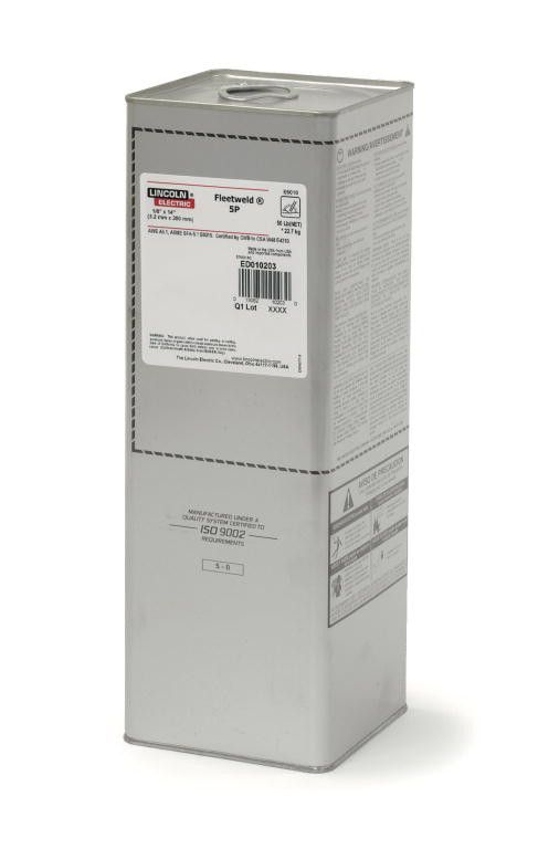 Lincoln ED010200 1/4 Fleetweld 5P Stick Electrodes (50lb EO Can)