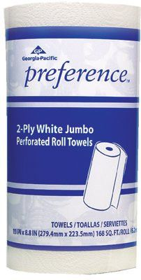 Georgia-Pacific GPC 27385 Preference Perforated Paper Towels, White, 85 Sheets/Roll, 30 per case (1 Case)