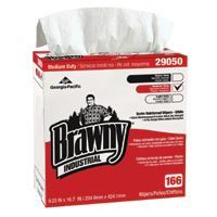 Georgia-Pacific GPC 290-50/03 Brawny Industrial Medium-Duty Wipers, White, 166 per box (1 Box)