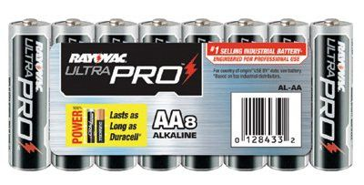 Rayovac ALAA-8J Maximum Alkaline Shrink Pack Batteries, 1.5 V, AA, 8 per pack (1 Pack)